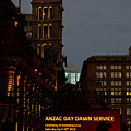 Sydney Clock On Anzac Day At Dawn by Miroslava Jurcik