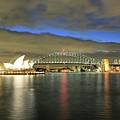 Sydney Harbor At Blue Hour by M C Hood