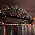Sydney Harbor At Night by John Daly