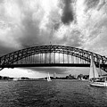 Sydney Harbor Bridge Black And White V2 by Douglas Barnard