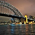 Sydney Harbor Bridge Night View by Giro Tavitian