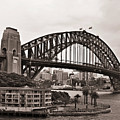 Sydney Harbor Bridge Platinum by Douglas Barnard