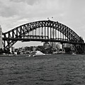 Sydney Harbour Bridge In Black And White by Chris Smith