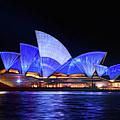 Sydney Opera House In Blue by Isabella Howard