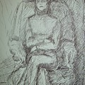 Sylvia Sitting In Chair by Joseph Sandora Jr