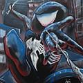 Symbiote Spider-man  by Tyler Haddox