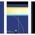 Symphony In Blue - Triptych2 by David Hargreaves