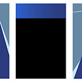 Symphony In Blue - Triptych 3 by David Hargreaves