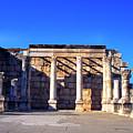 Synagogue In Capernaum Israel by Thomas R Fletcher
