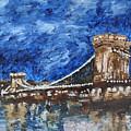 Szechenyi Chain Bridge Budapest by Agnes V