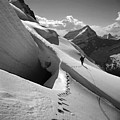 T-202410 Bw Fred Beckey High On Berg Glacier by Ed Cooper Photography