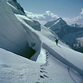 T-202410 Fred Beckey High On Berg Glacier by Ed Cooper Photography