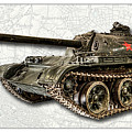 T-54 Soviet Tank W-bg by Weston Westmoreland