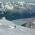 T-602409 Fred Beckey On Berg Glacier On Mt. Robson by Ed Cooper Photography