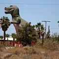 T-rex Invading Cabazon by Colleen Cornelius