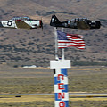 T6 Tango At Reno Air Races Home Pylon Finish Line by John King
