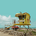 T7 Lifeguard Station Kapukaulua Beach Paia Maui Hawaii by Sharon Mau