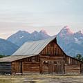 T.a. Moulton Barn Grand Tetons Sunrise by John McGraw
