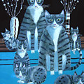 Tabby Family by Mary Stubberfield