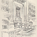 Table And Chair, Signers' Room, Independence Hall by Joseph Pennell