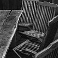 Table And Chairs Husavik Iceland 3767 by Bob Neiman
