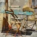 Table Bleue Au Soleil by Dragica  Micki Fortuna