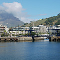 Table Mountain From The V And A Waterfront Quays by Harvey Barrison
