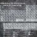 Tableau Periodiques Periodic Table Of The Elements Vintage Chart Silver by Tony Rubino