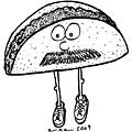 Taco Mustache by Karl Addison