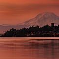 Tacoma Bay Mount Rainier Sunrise by Mike Reid