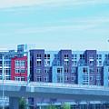 Tacoma blues - cityscape art print