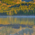 Taggart Lake Triptych Center Panel by Greg Norrell