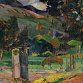 Tahitian Landscape, 1892 by Paul Gauguin