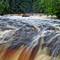 Tahquamenon Lower Falls Upper Peninsula Michigan Vertical 01 by Thomas Woolworth