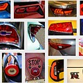Tail Light Collage Number 1 by Mike Martin