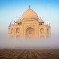 Taj Mahal In The Mist by Inge Johnsson