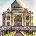Taj Mahal - Paint by Steve Harrington