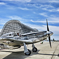 Take Off P-51 Mustang  by Chuck Kuhn