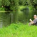 Taking A Break From Fishing by Rod Johnson
