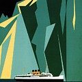 Taku Glacier - Alaska - Canadian Pacific Steamship - Retro Travel Poster - Vintage Poster by Studio Grafiikka