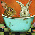 Tale Of Two Bunnies by Leah Saulnier The Painting Maniac