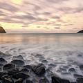 Talisker Bay Boulders At Sunset by Derek Beattie