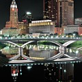Tall Columbus Reflection by Frozen in Time Fine Art Photography