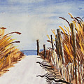 Tall Grass With Drift Fence by Robert Thomaston