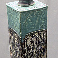 Tall Jar With Vase Lid by Donald Burroughs