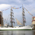 Tall Ship In Tampa Bay by David Lee Thompson