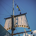 Tall Ship Sails 4 by Kathryn Strick