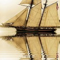 Tall Ship Sepia  by Valerie Stein