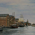 Tall Ships At Gloucester Docks by Andy Lloyd