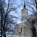 Tallin Church In Winter by Margaret Brooks